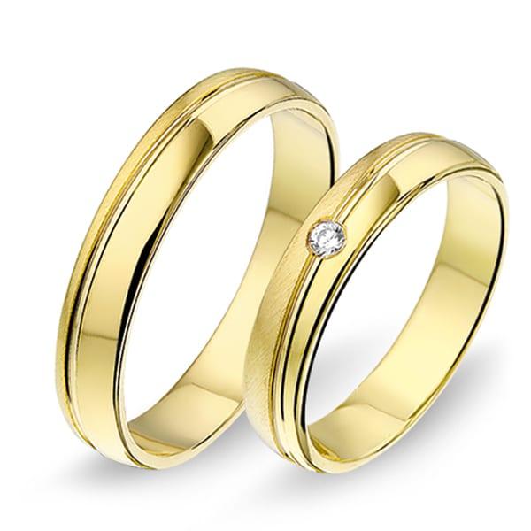 1406 - Alliance geelgouden trouwringen