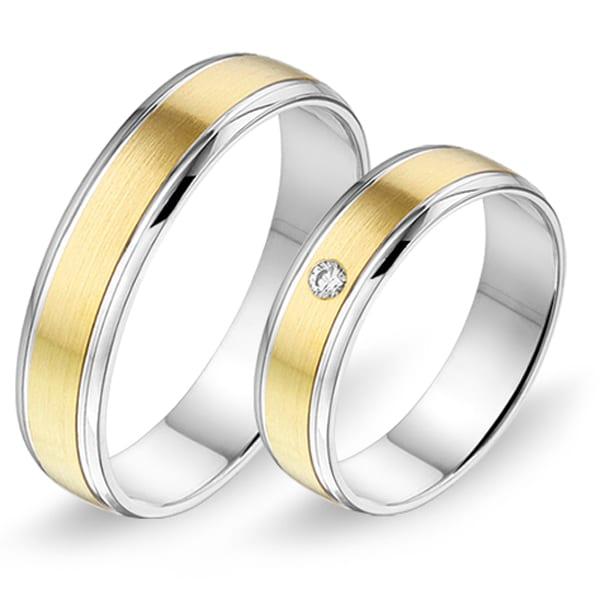 368 - Alliance bi-color trouwringen