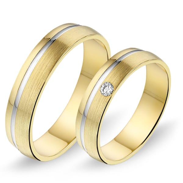 436 / 437 - Alliance bi-color trouwringen