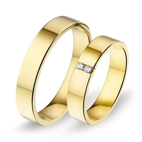 438 / 439 - Alliance geelgouden trouwringen