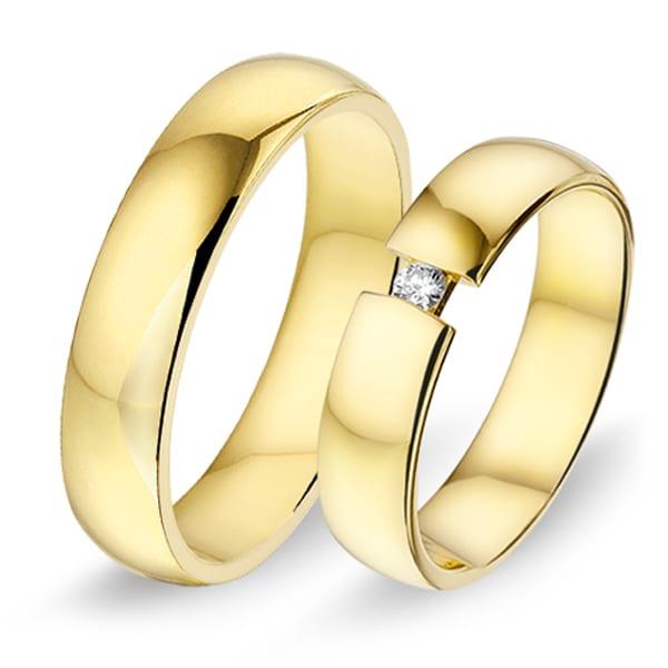 460 / 461 - Alliance geelgouden trouwringen