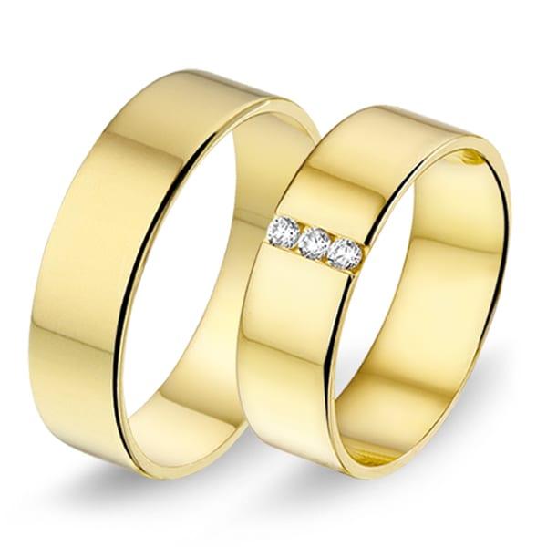 462 / 463 - Alliance geelgouden trouwringen