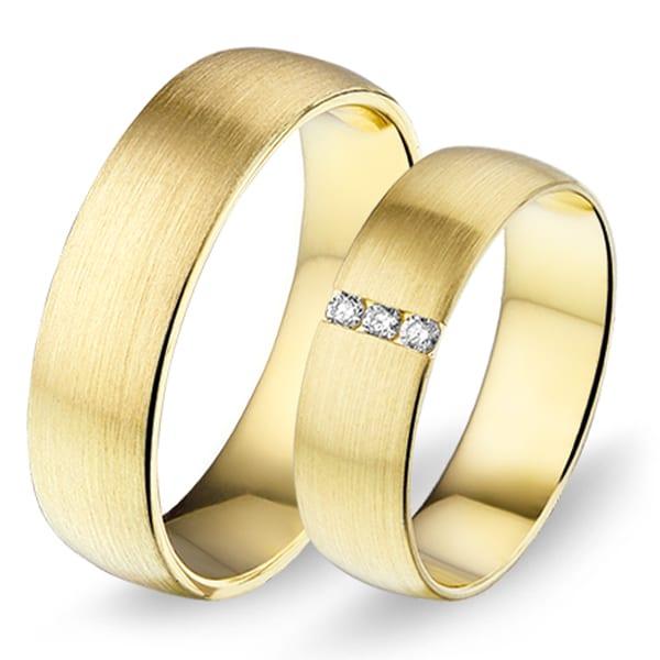 464 / 465 - Alliance geelgouden trouwringen