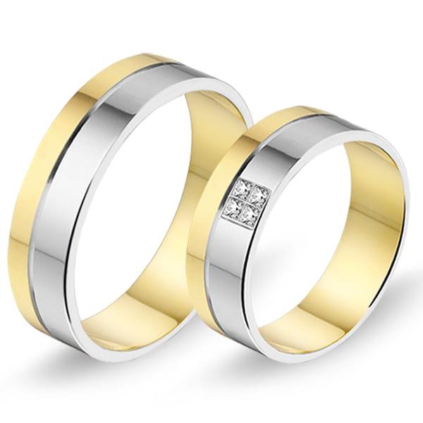 470 / 471 - Alliance bi-color trouwringen