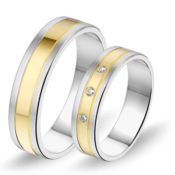 601 / 602 - Alliance bi-color trouwringen