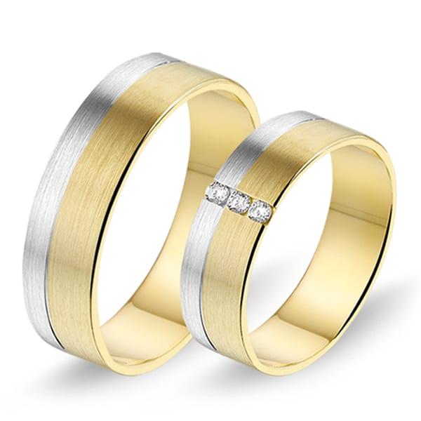 621 / 622 - Alliance bi-color trouwringen
