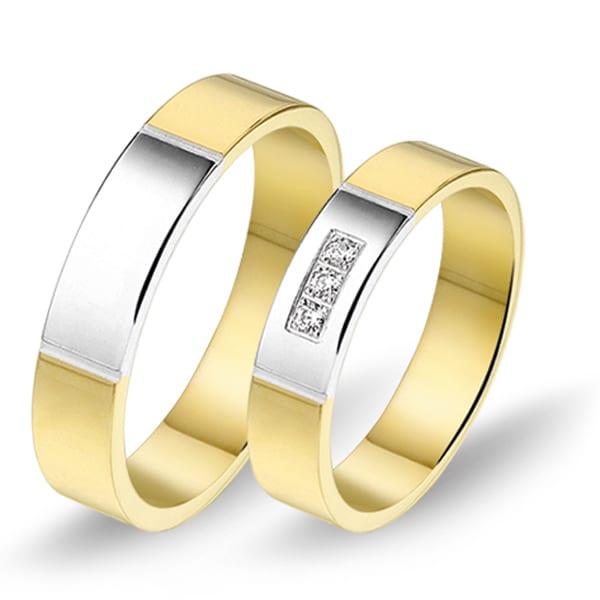 629 / 630 - Alliance bi-color trouwringen
