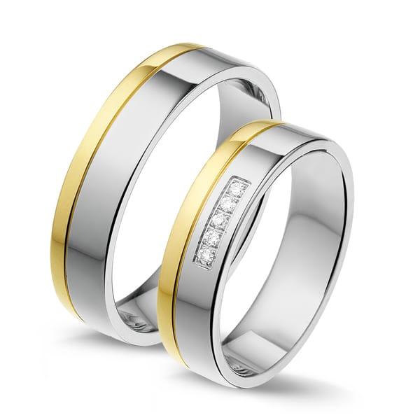 STG555 - Alliance edelstaal/gouden trouwringen