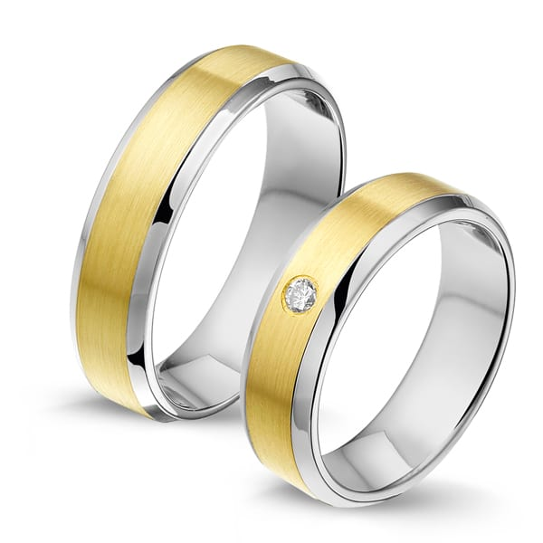 STG700 - Alliance edelstaal/gouden trouwringen