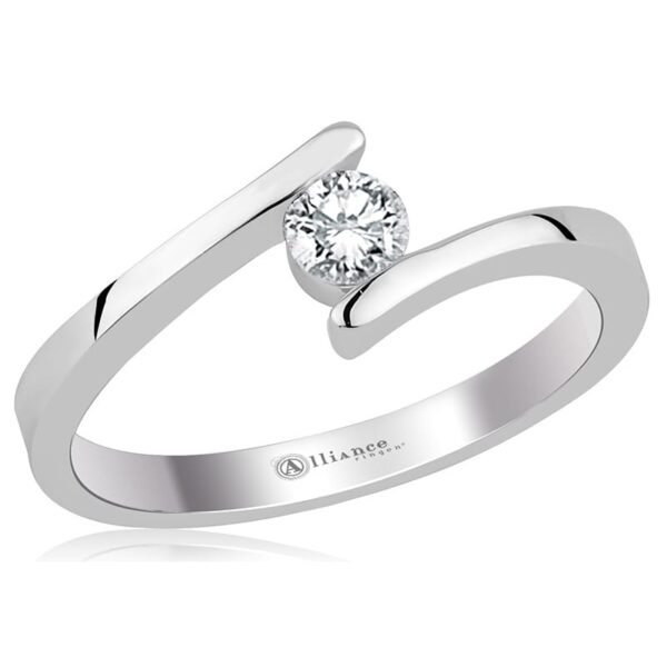 S1006 - Alliance gouden solitair / trouwring / verlovingsring