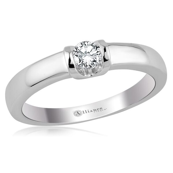 S10015 - Alliance gouden solitair / trouwring / verlovingsring